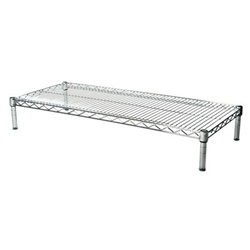 "Industrial Wire Shelving Unit with 1 Shelf - 18""d"