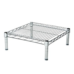 "Industrial Wire Shelving Unit with 1 Shelf - 24""d"