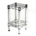 "Industrial Wire Shelving Unit with 2 Shelves - 8""d"