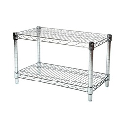 wire cabinet shelf 14 quot depth chrome wire shelving unit with 2 shelves 29323