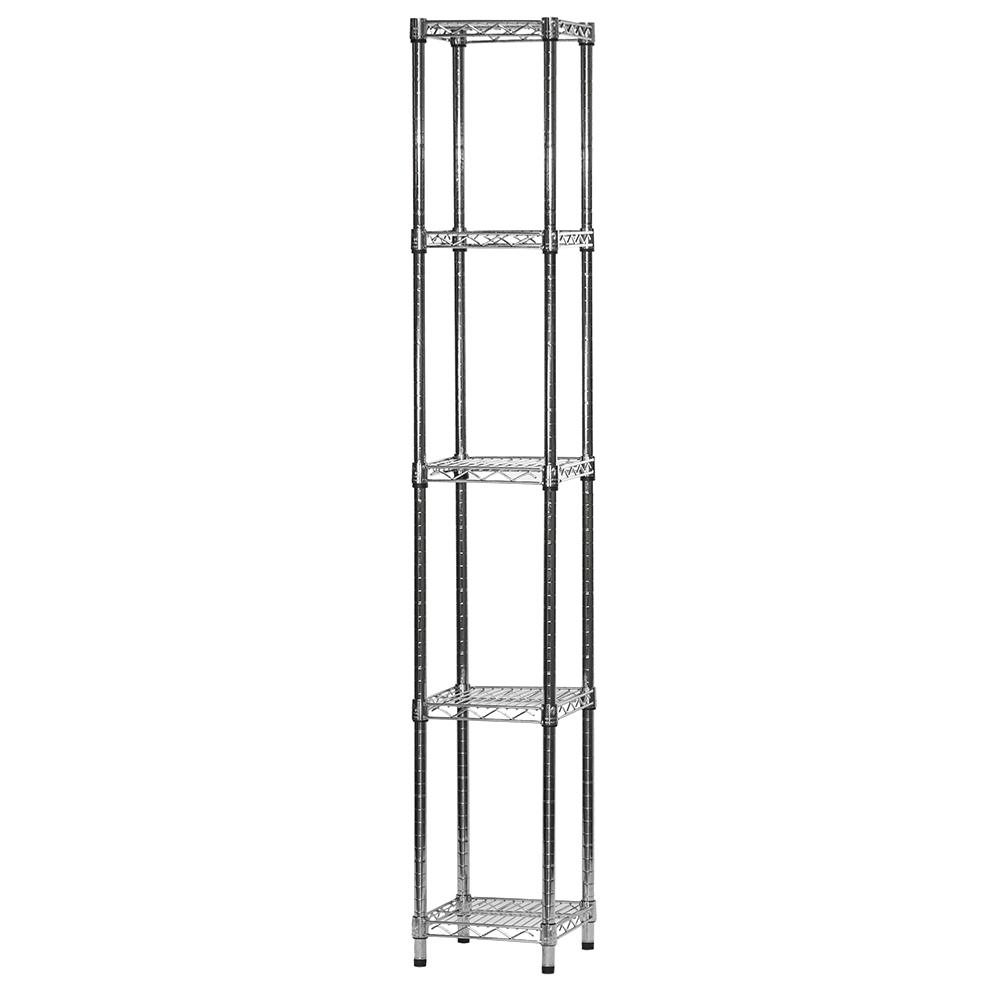 12 Quot D X 12 Quot W Chrome Wire Shelving Unit With 5 Shelves