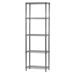 "Wire Shelving Unit w/ 5 Shelves - 12""d x 24""w"