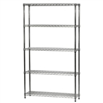 "Wire Shelving Unit w/ 5 Shelves - 12""d x 42""w"