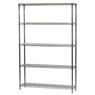 "12""d x 54""w Wire Shelving with 5 Shelves"