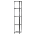 "Wire Shelving Unit w/ 5 Shelves - 14""d x 14""w"