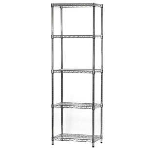 "Industrial Wire Shelving Unit with 5 Shelves - 14""d x 24""w"