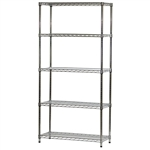 "Industrial Wire Shelving Unit with 5 Shelves - 14""d x 36""w"