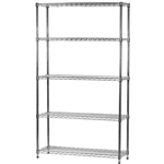 "Industrial Wire Shelving Unit with 5 Shelves - 14""d x 42""w"