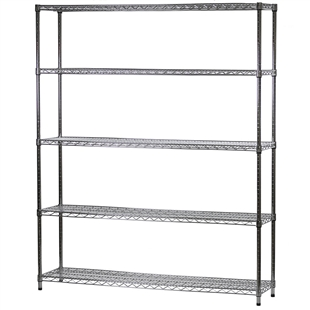 "Industrial Wire Shelving Unit with 5 Shelves - 14""d x 60""w"