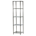 "Industrial Wire Shelving Unit with 5 Shelves - 18""d x 18""w"