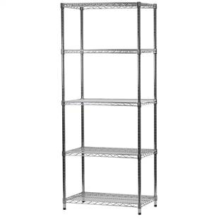 "Wire Shelving Unit with 5 Shelves - 18""d x 30""w"