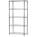 "Industrial Wire Shelving Unit with 5 Shelves - 18""d x 36""w x 54-96""h"