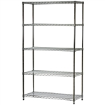 "Wire Shelving Unit with 5 Shelves - 18""d x 42""w"
