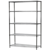 "Wire Shelving Unit with 5 Shelves - 18""d x 48""w"
