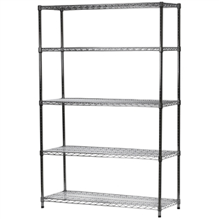 "18""d x 54""w Wire Shelving with 5 Shelves"