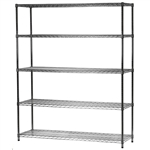 "Industrial Wire Shelving Unit with 5 Shelves - 18""d x 60""w"