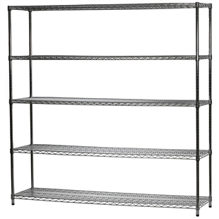 "Industrial Wire Shelving Unit with 5 Shelves - 18""d x 72""w"