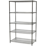 "Heavy Duty Wire Shelving Unit with 5 Shelves - 24""d x 42""w"