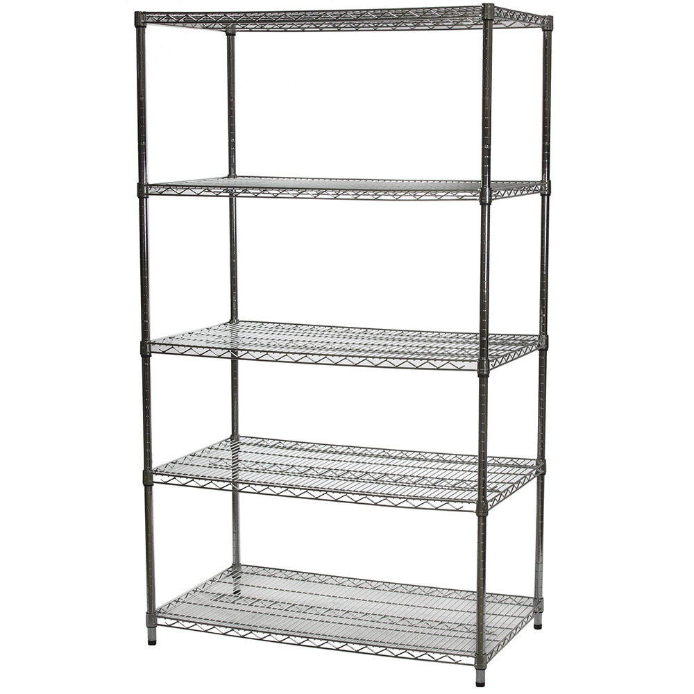 Wire Shelving Units with Five Tiers - 24\