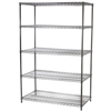 "Industrial Wire Shelving Unit with 5 Shelves - 24""d x 48""w"
