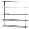 "Industrial Wire Shelving Unit with 5 Shelves - 24""d x 72""w"