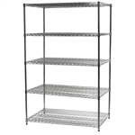 "Industrial Wire Shelving Unit with 5 Shelves - 30""d x 48""w"