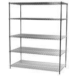 "Industrial Wire Shelving Unit with 5 Shelves - 30""d x 60""w"