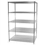 "36""d x 36""w Wire Shelving with 5 Shelves"