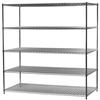 Industrial Wire Shelving Unit with 5 Shelves - d x w x h