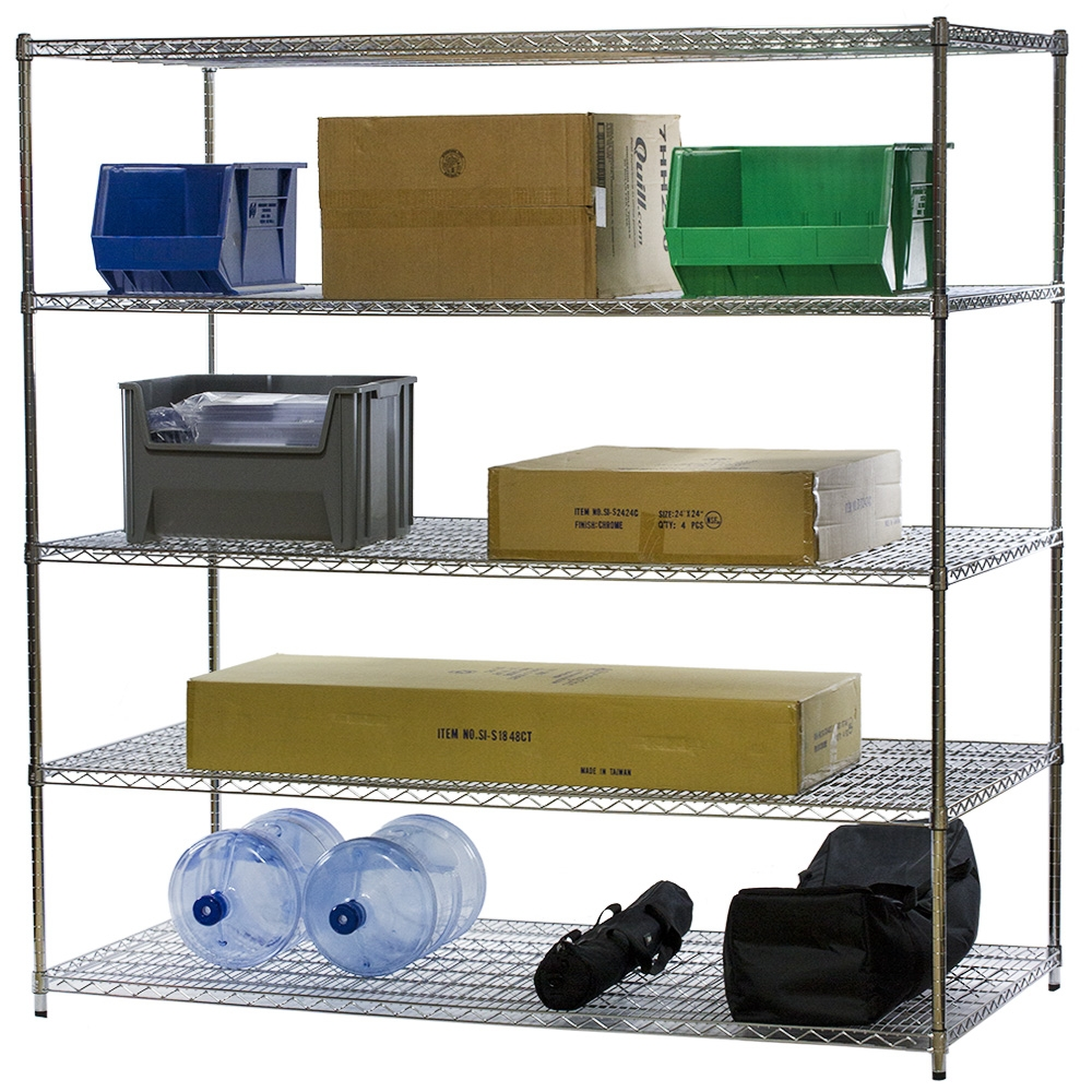 5 Shelf Wire Shelving Units - 36\
