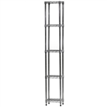 "Industrial Wire Shelving Unit with 5 Shelves - 8""d x 12""w"