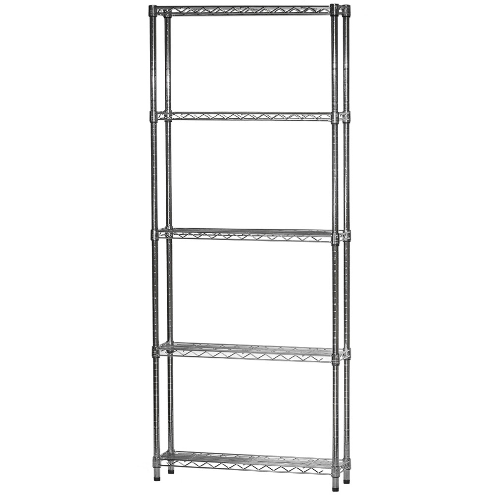 Wire Shelving Unit With 5 Shelves 8 D X