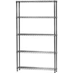 "Industrial Wire Shelving Unit with 5 Shelves - 8""d x 42""w"