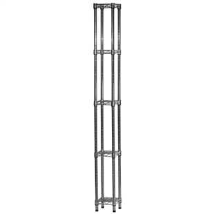 "Industrial Wire Shelving Unit with 5 Shelves - 8""d x 8""w"