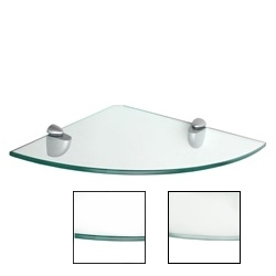 "Dolle Glass Line - Glass Corner Shelf - 12""d x 12""w x 5/16""h"