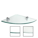 "Dolle Glass Line - Glass Corner Shelf - 10""d x 10""w x 5/16""h"
