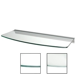 "Dolle Glass Line - Clear Glass Convex Shelf - 8""-9""d x 24""w x 5/16""h (RAIL 8mm Mounts)"