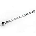 Hanger Rail for Chrome Wire Shelving
