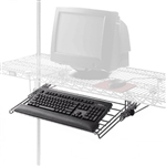 Wire shelving keyboard drawer