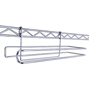 Paper towel holder for wire shelving