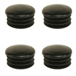 Post Cap - 4-Pack (Black Plastic)