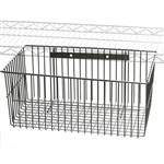 "18""d x 12""w x 7""h Chrome Wire Utility Basket"