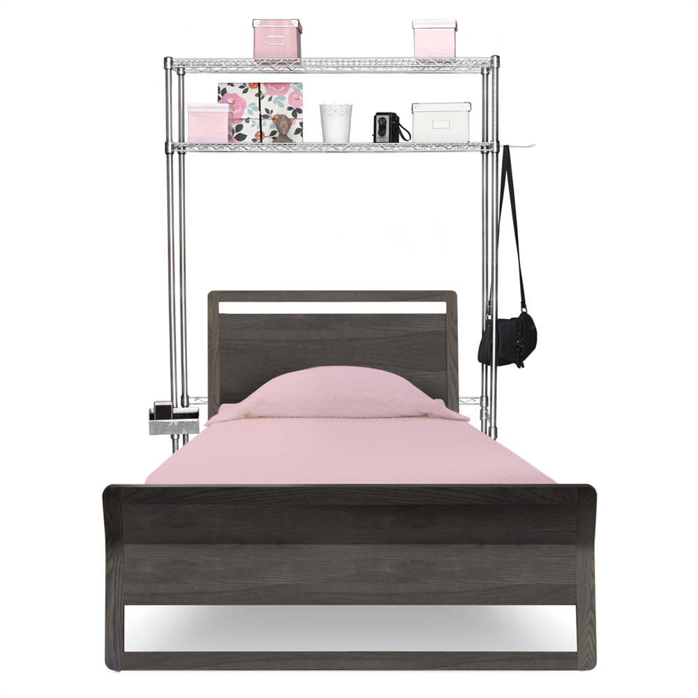 Wire Shelving Over The Bed Space Saver Storage Unit