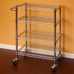 "Chrome Wire Kitchen Cart Kit 12""d x 30""w x 34""h"