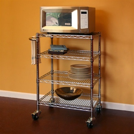 Wire Shelving Kitchen Cart D X W X H - Wire shelving for kitchen