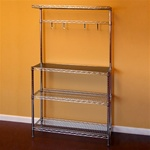 "Chrome Wire Kitchen Kit 12""d x 36""w x 64""h Shelving Unit"