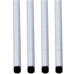White Wire Shelving Posts - 4-Pack