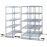 "24""d Sliding Wire Shelf Storage Kit - Single Skate"