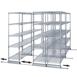 "18""d Sliding Wire Shelf Storage Kit - Double Skate"