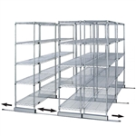 "30""d Sliding Wire Shelf Storage Kit - Double Skate"
